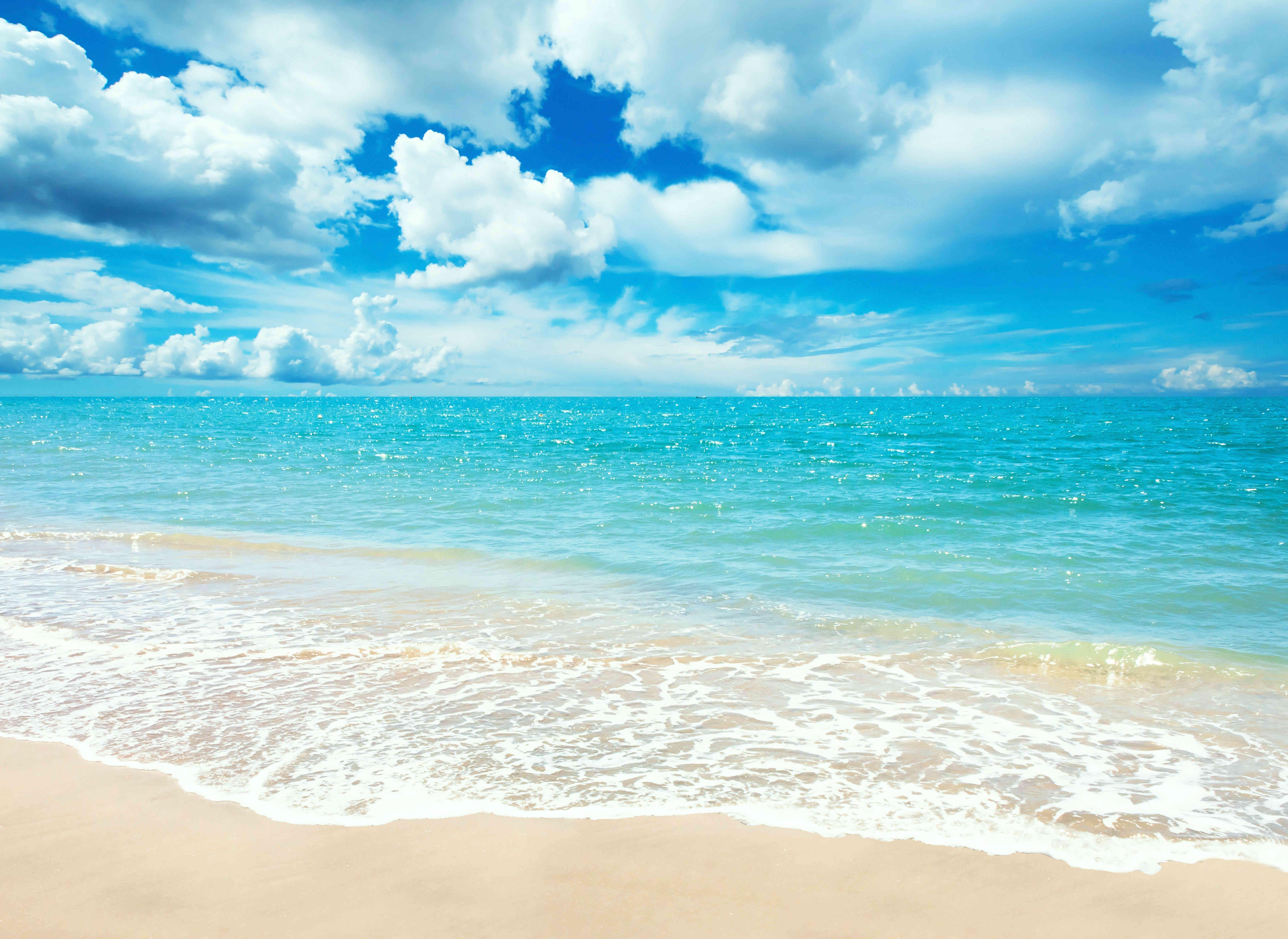 пляжи, белый пеоск
