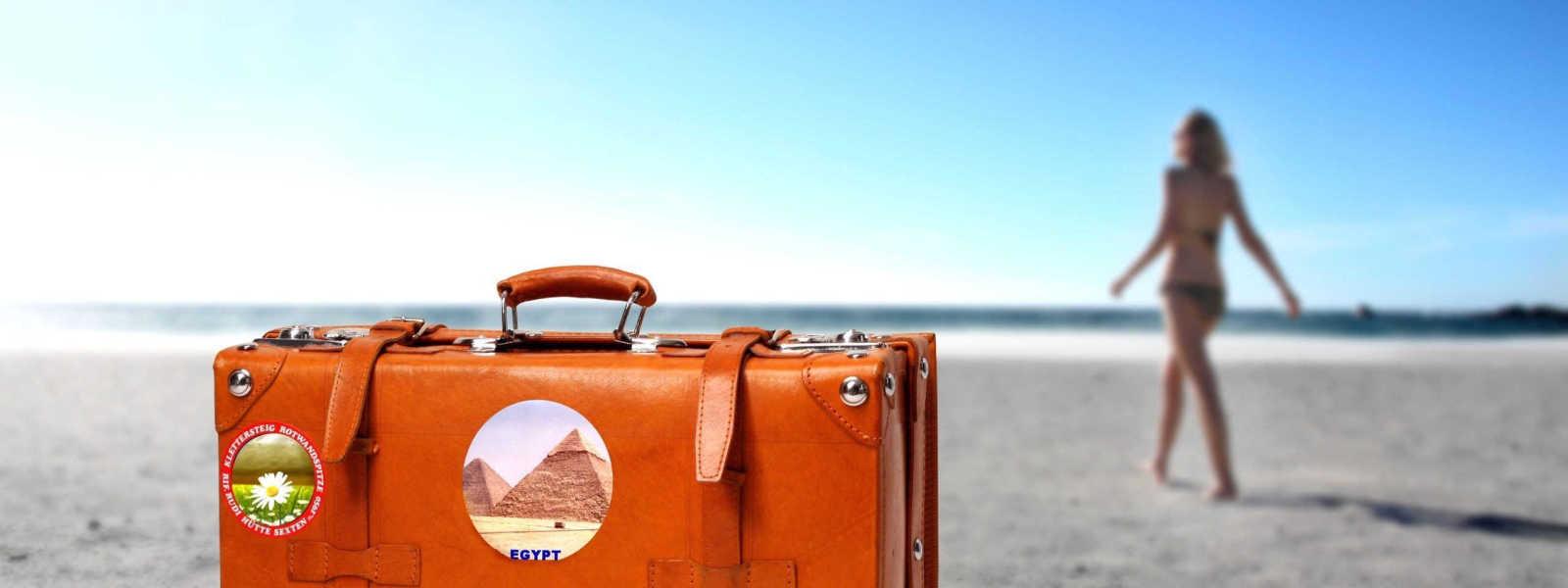 чемодан, девушка