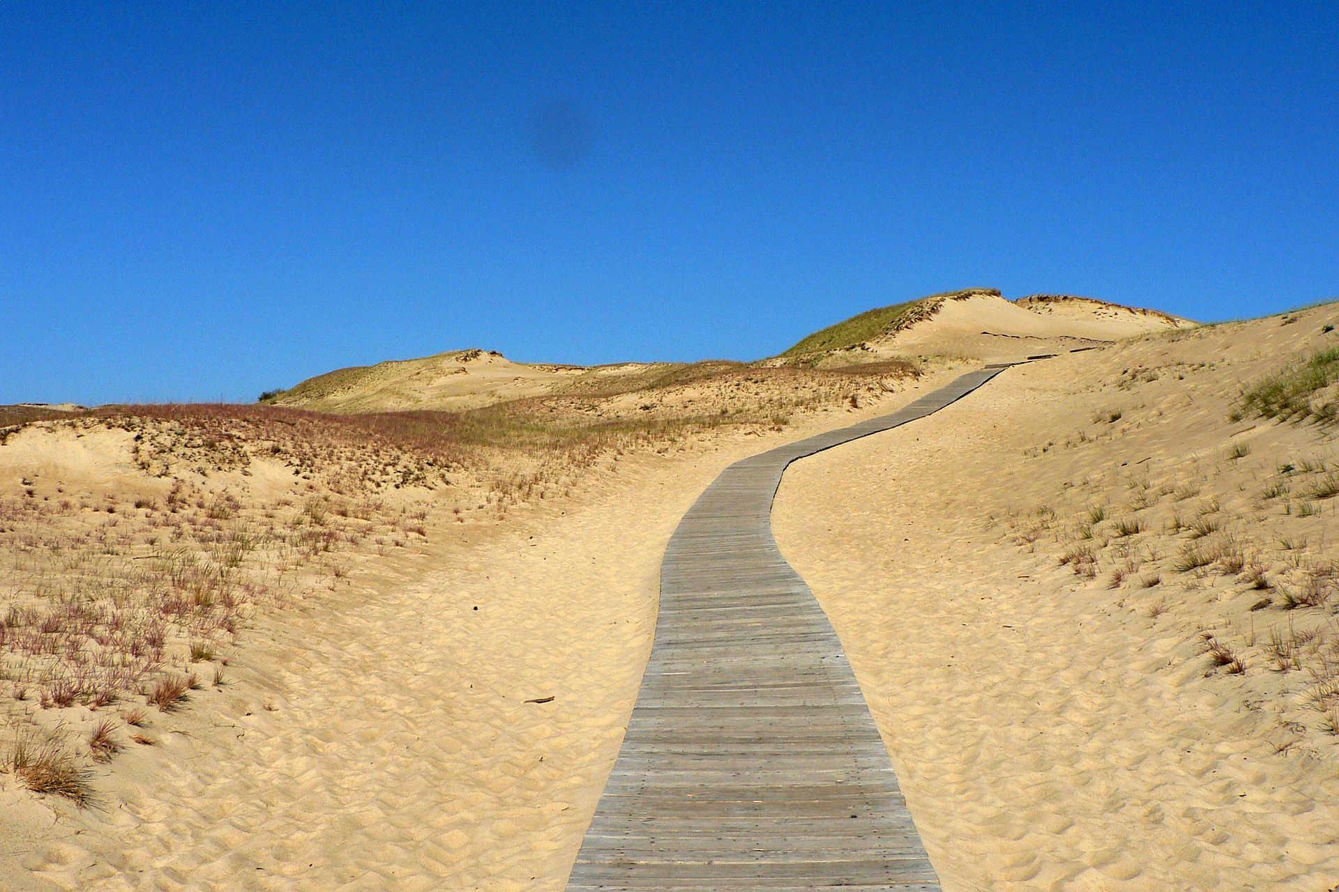 Песчаные дюны в Неринге